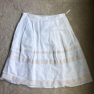 BR cream skirt